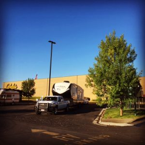 boondocking at cabelas