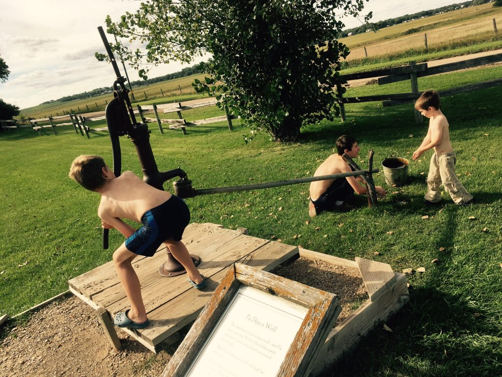 Ingalls Homestead Water Pump fun