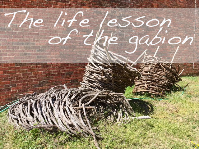 Yorktown's life lesson: the gabion basket
