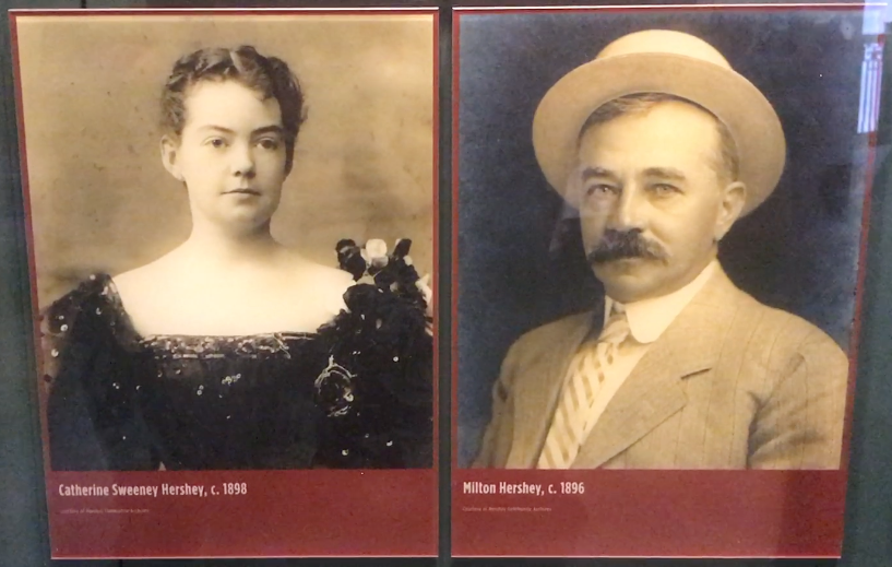 Milton Hershey and his wife