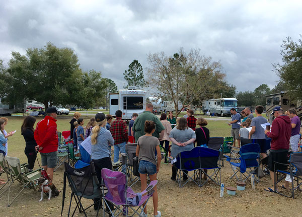 what church looks like for us while RVing
