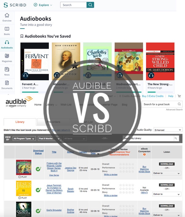 Audible vs. Scribd: why I'm dumping one for the other