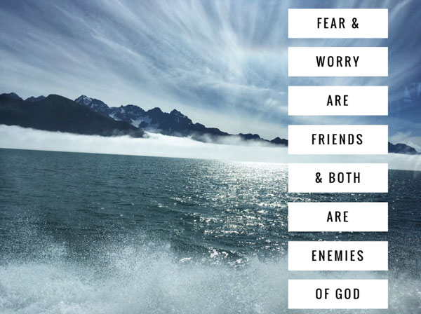 pray out fear